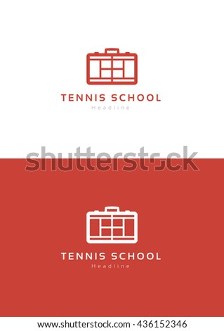 Tennis school logo template.