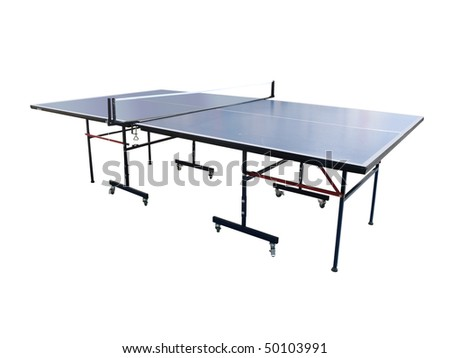 Tennis table under the white background
