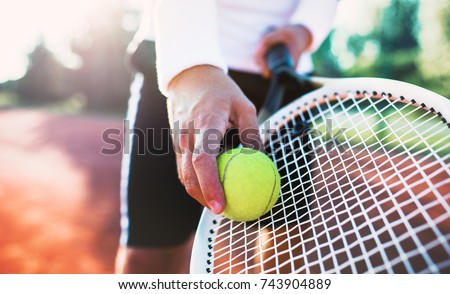Tennis. Young man playing tennis. Sport, recreation concept