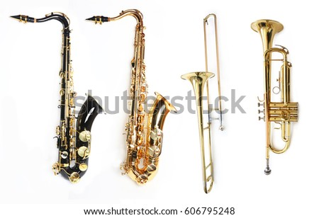 Tenor Saxophones Trombone and Trumpet