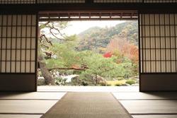 Tenryuji temple Daihoujyo Arasiyama Kyoto Japan