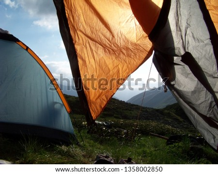 tent in mountains #1358002850
