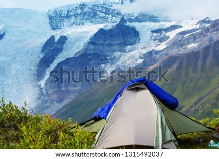 tent in the mountains #1315492037