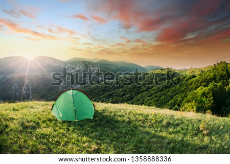 Tent in the nature #1358888336