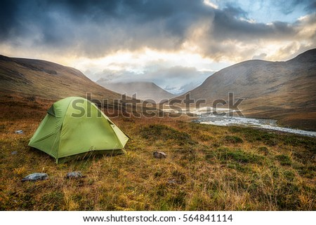 Tent in the wilderness of Northern Sweden  #564841114