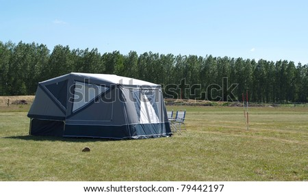 Tent on a camp site in the green