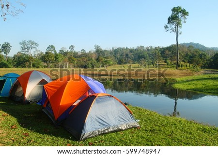 tents for camping in forest #599748947