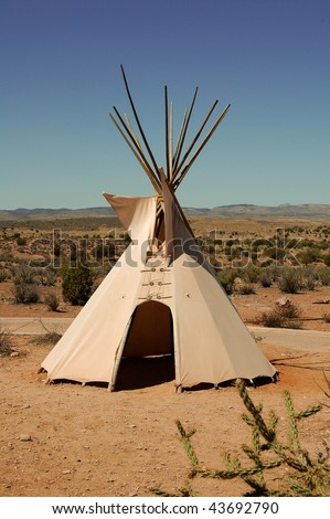 tepee - stock photo