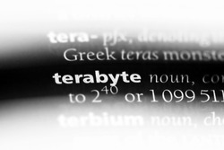 terabyte word in a dictionary. terabyte concept.