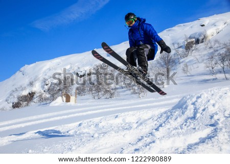 Teriberka, Murmansk / Russia - 1-30 of March 2018: Arctic Russian North Expedition adventures trip camp for exploration, winter active sports snowkiting, recreation and fun, travelling. KiteClass #1222980889