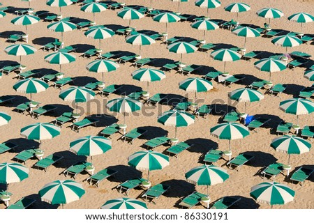 Termoli (Campobasso, Molise, Italy) - The beach at morning - stock photo