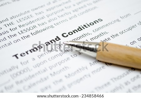 Terms and conditions Stockfoto ©