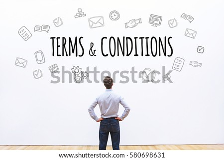 terms and conditions, word concept background