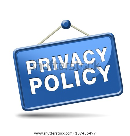 terms of use and privacy policy for the use of personal data and confidential information. Sign, icon, label or button. - stock photo