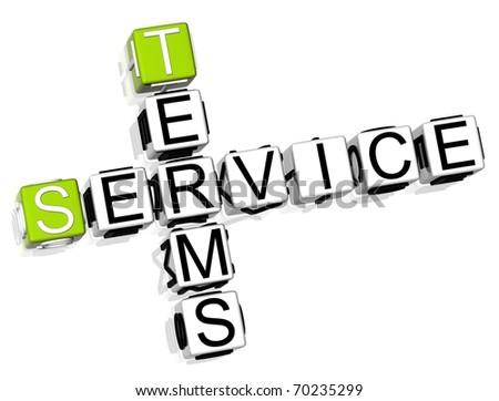 Terms Service Crossword