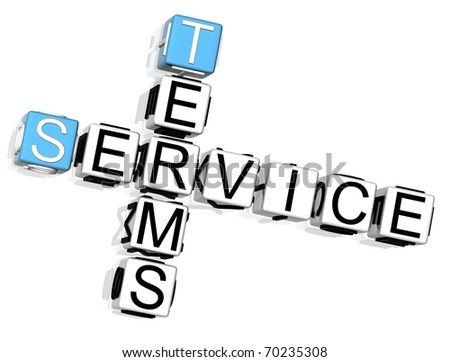 Terms Service Crossword - stock photo