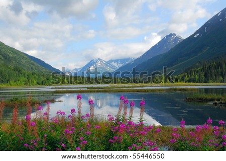Tern Lake on the Kenai peninsula in Alaska