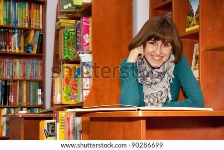 TERNOPIL, UKRAINE - NOVEMBER 30: Ukrainian Writer Nadiia Gerbish reading from children's books in bookshop. Public reading on November 30, 2011 in Ternopil, Ukraine