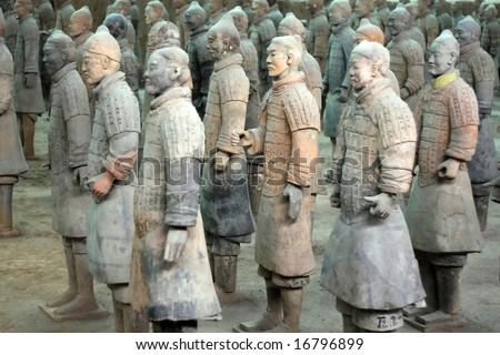 terra cotta warriors in China