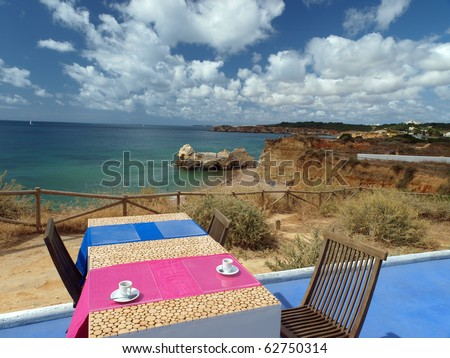 Terrace overlooking the beautiful beach and cliff