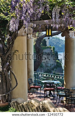 Terrace with view of Sorrento Peninsula, Italy