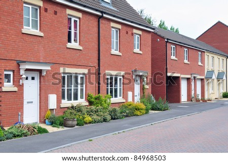 Terraced Houses on a Typical English Residential Estate