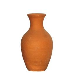 Terracotta amphora - isolated on white