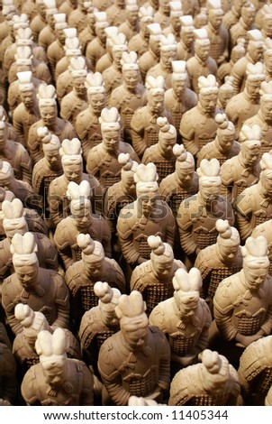 Terracotta army on sale in Sian, China