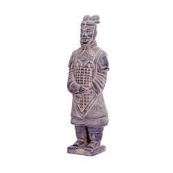 Terracotta Army sculptures of Qain Emperor of China : The Officer. Isolated on white background.