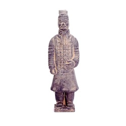 Terracotta Army sculptures of Qin Emperor of China : The Soldiers. Isolated on white background.