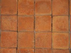 Terracotta floors brown.Brown terracotta floor tiles texture,background.