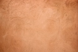 Terracotta plaster rough wall texture background