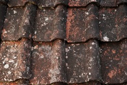 Terracotta roof tile texture background