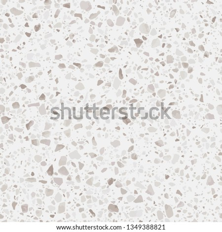 Terrazzo flooring seamless texture. Realistic raster pattern of mosaic floor with natural stones, granite, marble, quartz, concrete. Classic Italian floor. Repeatable design for decor, render, print
