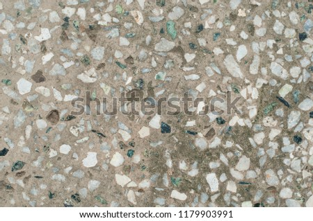Terrazzo Flooring Texture Tile Polished Stone Pattern Wall And Color Old Surface Marble