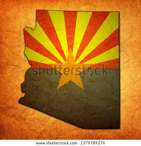 territory of Arizona state isolated from other states of USA