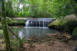 Terry's creek waterfall at Epping, Sydney, Australia.