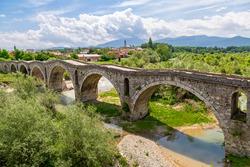 Terzijski bridge known also as Tailor bridge, in Gjakova, Kosovo