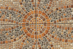 Tessellation (mosaic), Rhode, Greece - close up