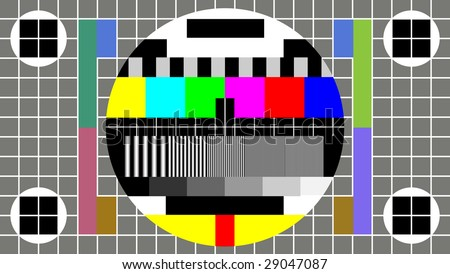 Test Pattern for Wide Screen TV
