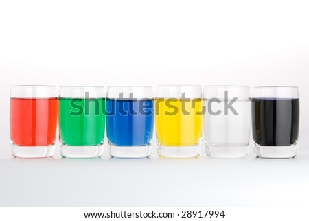 test tube colored on white background