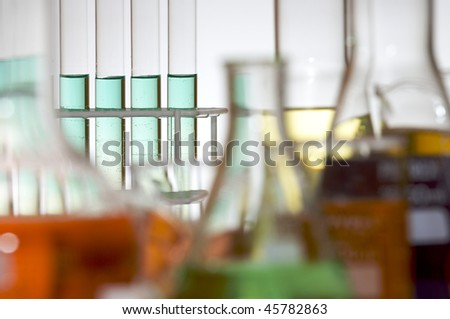 test tubes in a laboratory