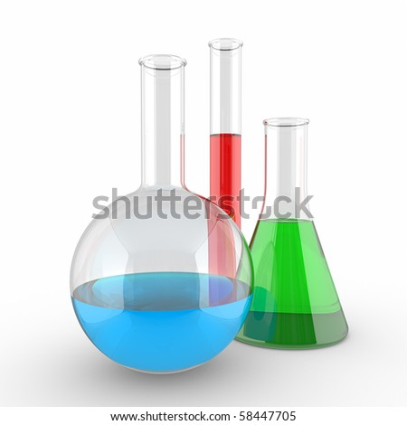 Test tubes isolated on a white background