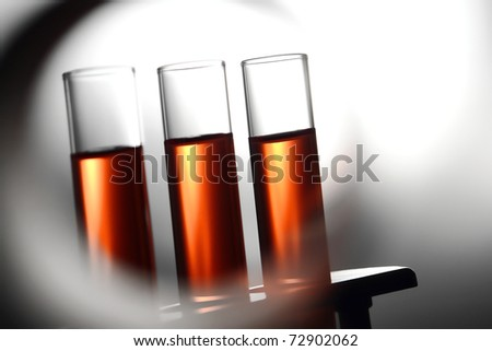 Chemistry laboratory equipment in a science research lab stock photo