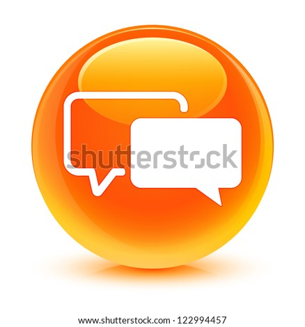 Testimonial icon glassy orange button