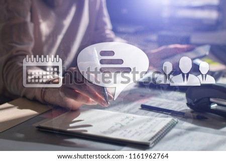 TESTIMONIALS CUSTOMER, Touch Screen. Virtual Icon. Graphs Interface. Business concept. Internet concept. Digital Interfaces #1161962764