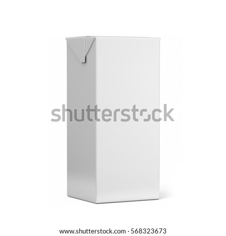 Tetra Pack White Realistic Rendering. 3D Illustration