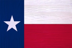 Texas flag painted on wood