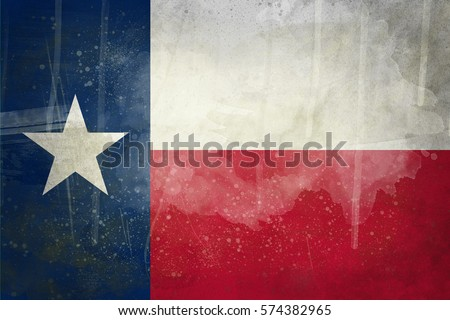 Texas grunge flag