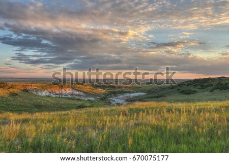 Texas Highway 207 winds its way through Palo Duro  Canyon in the Texas Panhandle Stockfoto ©